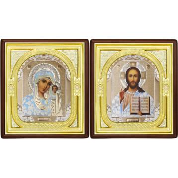 Венчальная пара Икона Спасителя и Казанской Божией Матери 1-ВП-1