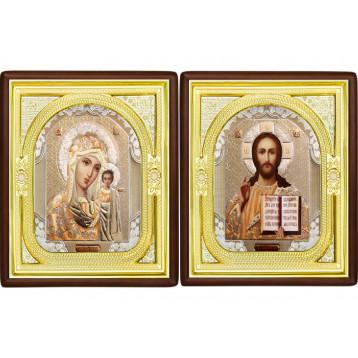 Вінчальна пара Ікона Спасителя і Казанської Божої Матері 1-ВП-2