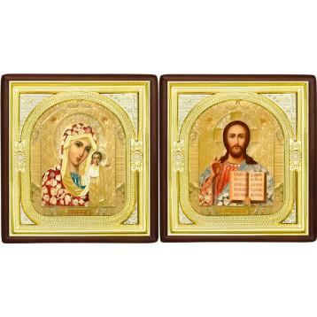 Вінчальна пара Ікона Спасителя і Казанської Божої Матері 1-ВП-3