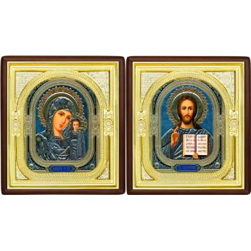 Вінчальна пара Ікона Спасителя і Казанської Божої Матері 1-ВП-4