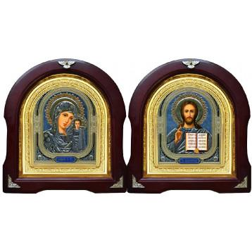 Вінчальна пара Ікона Спасителя і Казанської Божої Матері 12-АВП-4