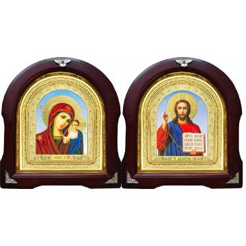 Вінчальна пара Ікона Спасителя і Казанської Божої Матері 12-АВП-6