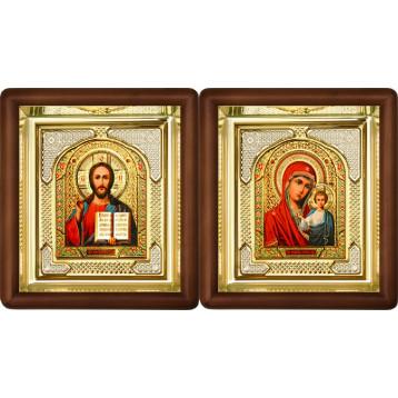 Венчальная пара Икона Спасителя и Казанской Божьей Матери 3-ВП-5