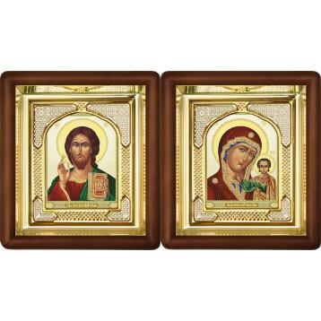Венчальная пара Икона Спасителя и Казанской Божьей Матери 3-ВП-7