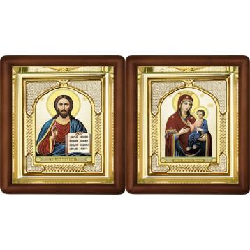 Вінчальна пара Ікона Спасителя і Іверська Божа Матір 3-ВП-9
