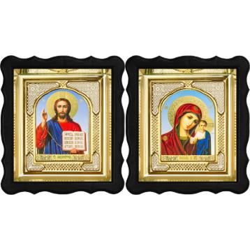 Вінчальна пара Ікона Спасителя і Казанської Божої Матері 3-ФВП-6