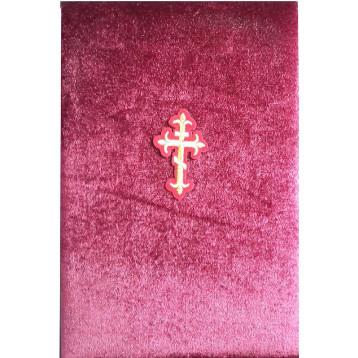 Бархатный складень Казанская БМ с молитвой, вынимающийся лик 10х12 Софрино узор Б-22-М-2-Б
