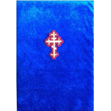 Бархатный складень Ангел с молитвой, вынимающийся лик 10х12 Софрино узор Б-22-М-4-С