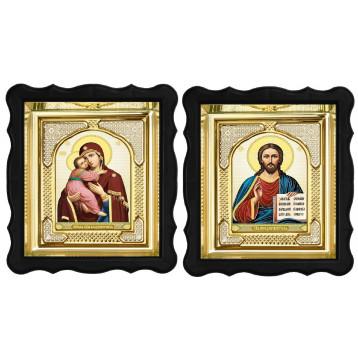 Вінчальна пара Ікона Спасителя і Володимирська Божа Матір 3-ФВП-12