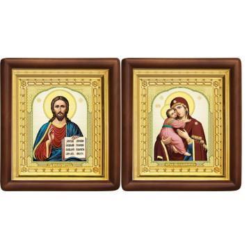 Венчальная пара Икона Спасителя и Владимирская Божия Матерь 4-ВП-12