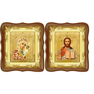 Вінчальна пара Ікона Спасителя і Казанської Божої Матері 5-ФСВП-3
