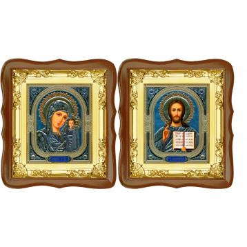 Венчальная пара Икона Спасителя и Казанской Божьей Матери 5-ФСВП-4
