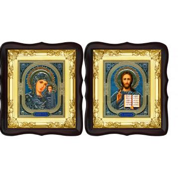 Вінчальна пара Ікона Спасителя і Казанської Божої Матері 5-ФТВП-4