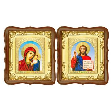 Вінчальна пара Ікона Спасителя і Казанської Божої Матері 5-ФСВП-6