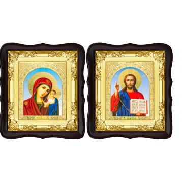 Вінчальна пара Ікона Спасителя і Казанської Божої Матері 5-ФТВП-6