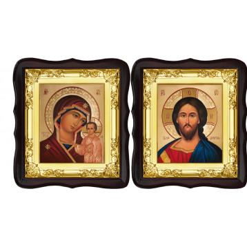 Вінчальна пара Ікона Спасителя і Казанської Божої Матері 5-ФТВП-7