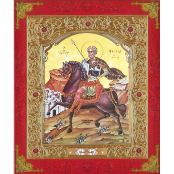 Икона Sf. Mare Mucenic Mina (Мина) 22-Д-271