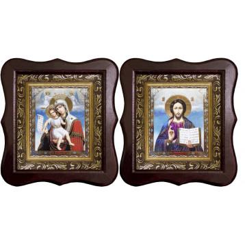 Венчальная пара Икона Спасителя и Достойно Есть Божия Матерь 1012-ФБВП-13
