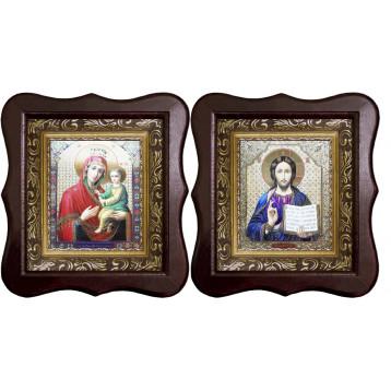 Венчальная пара Икона Спасителя и Скоропослушница Божия Матерь 1012-ФБВП-14