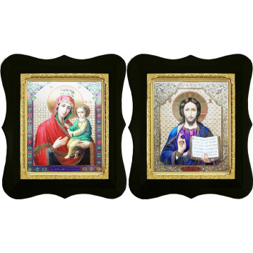 Венчальная пара Икона Спасителя и Скоропослушница Божия Матерь 16-ФВП-14
