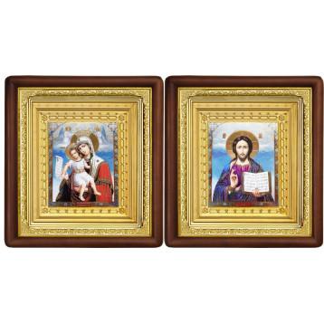 Венчальная пара Икона Спасителя и Достойно Есть Божия Матерь 19-ВП-13