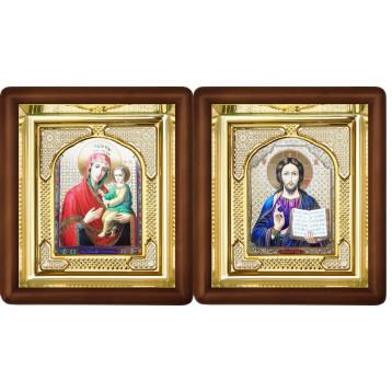 Венчальная пара Икона Спасителя и Скоропослушница Божия Матерь 3-ВП-14
