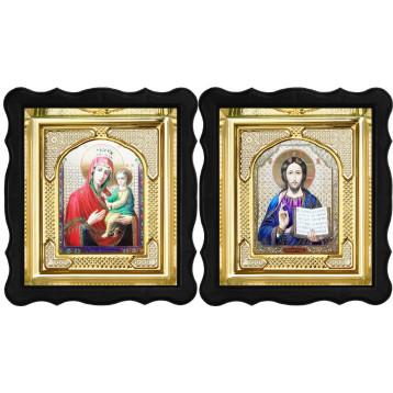 Венчальная пара Икона Спасителя и Скоропослушница Божия Матерь 3-ФВП-14