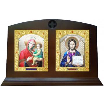 Венчальная пара Икона Спасителя и Скоропослушница Божия Матерь 30-П-20