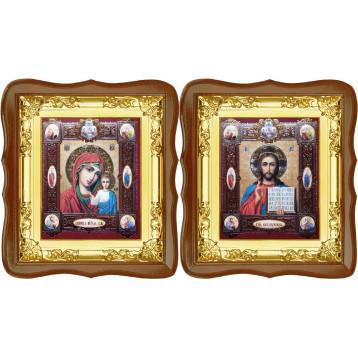 Венчальная пара Спасителя и Казанской Божьей Матери 5-ФСВП-15