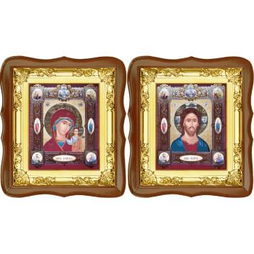 Венчальная пара Спасителя и Казанской Божьей Матери 5-ФСВП-16