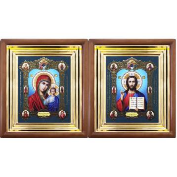 Венчальная пара Икона Спасителя и Казанской Божьей Матери 27-ВП-14