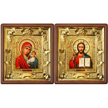 Венчальная пара Икона Спасителя и Казанской Божьей Матери 31-ВП-5