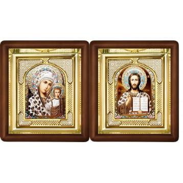 Венчальная пара Икона Спасителя и Казанской Божьей Матери 3-ВП-15
