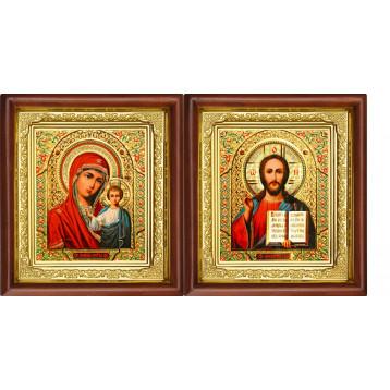 Вінчальна пара Ікона Спасителя і Казанської Божої Матері 16-ВП-5