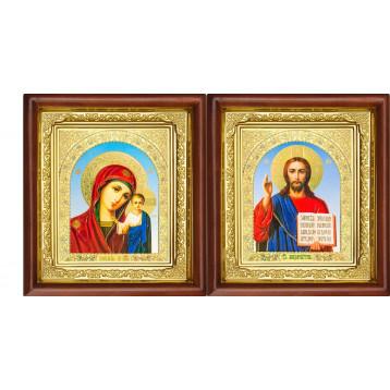 Вінчальна пара Ікона Спасителя і Казанської Божої Матері 16-ВП-6