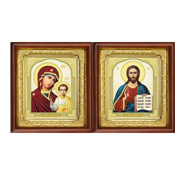 Вінчальна пара Ікона Спасителя і Казанської Божої Матері 16-ВП-8