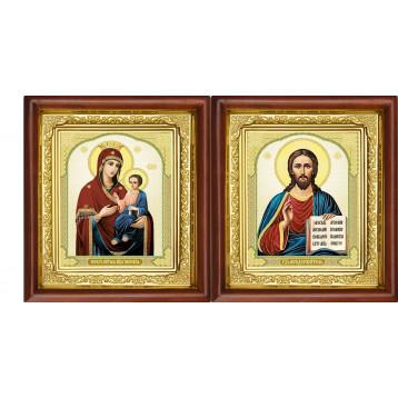 Вінчальна пара Ікона Спасителя і Іверська Божа Матір 16-ВП-9