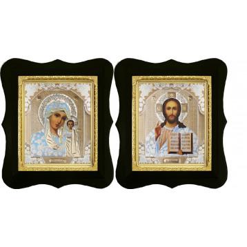 Венчальная пара Икона Спасителя и Казанской Божьей Матери 16-ФВП-1