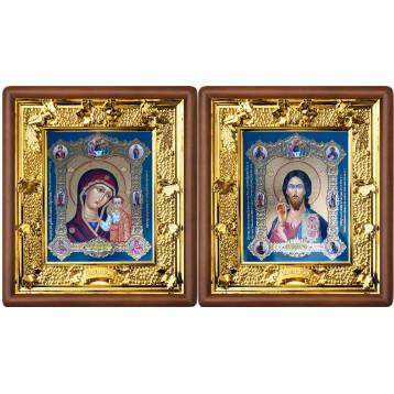Венчальная пара Икона Спасителя и Казанской Божьей Матери 31-ВП-18