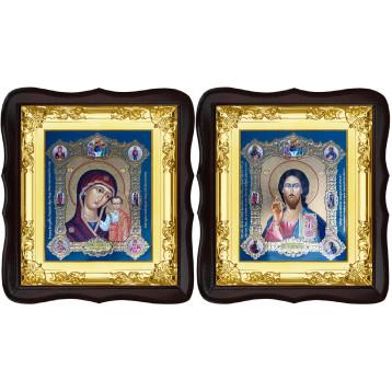Венчальная пара Спасителя и Казанской Божьей Матери 5-ФТВП-18