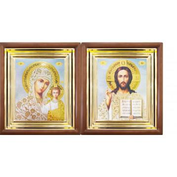 Венчальная пара Икона Спасителя и Казанской Божьей Матери 27-ВП-19