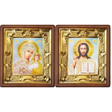 Венчальная пара Икона Спасителя и Казанской Божьей Матери 31-ВП-19