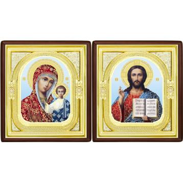 Вінчальна пара Ікона Спасителя і Казанської Божої Матері 1-ВП-8