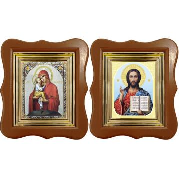 Венчальная пара Икона Спасителя и Почаевская Божия Матерь 27-ФВП-10