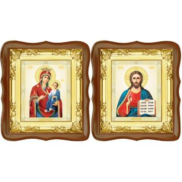 Вінчальна пара Ікона Спасителя і Іверська Божа Матір 5-ФСВП-9