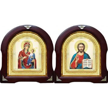 Вінчальна пара Ікона Спасителя і Іверська Божа Матір 12-АВП-9