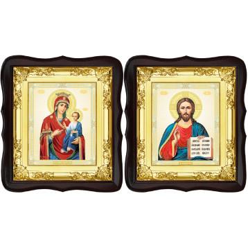 Вінчальна пара Ікона Спасителя і Іверська Божа Матір 5-ФТВП-9