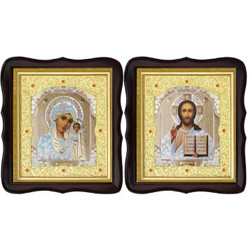 Венчальная пара Икона Спасителя и Казанской Божьей Матери 20-ФТВП-1
