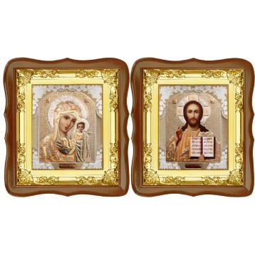 Вінчальна пара Ікона Спасителя і Казанської Божої Матері 5-ФСВП-2