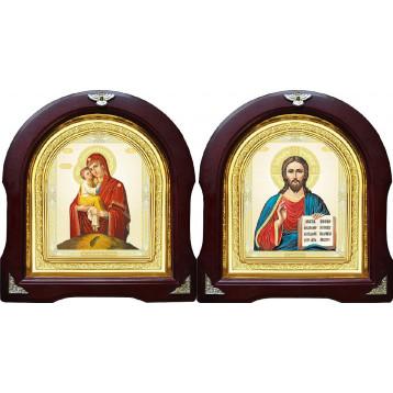 Вінчальна пара Ікона Спасителя і Почаївська Божа Матір 12-АВП-10